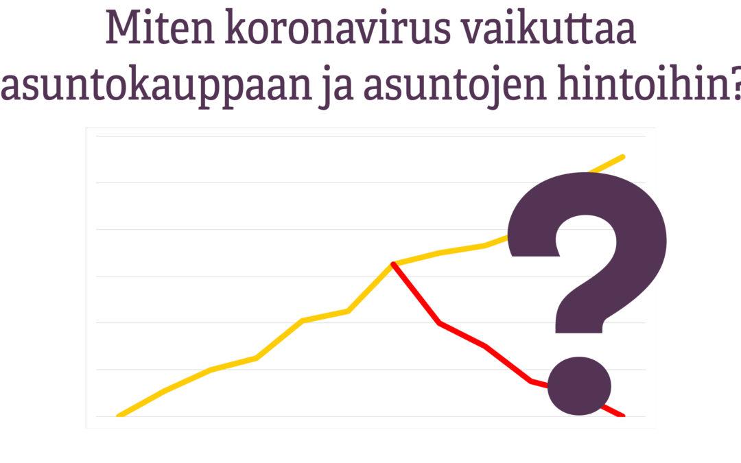 Miten koronavirus vaikuttaa asuntokauppaan ja asuntojen hintoihin?